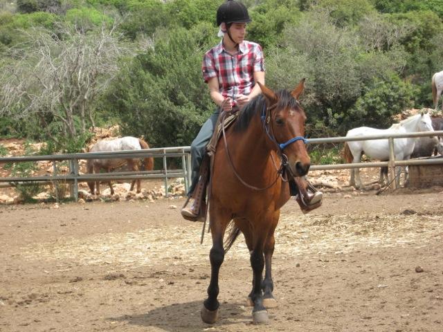 Melvin te paard