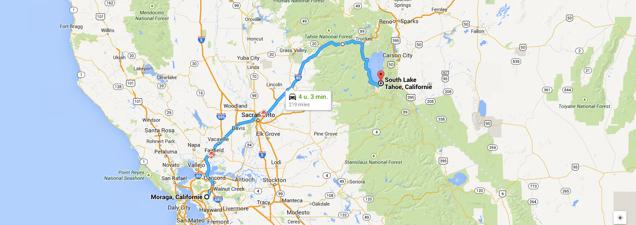Route op 7 juli 2014.
