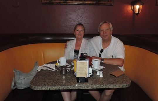 Ons ontbijt in Las Vegas