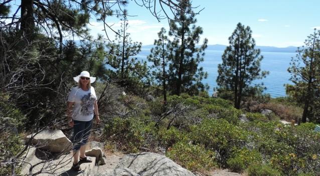 Prachtig uitzicht over Lake Tahoe.