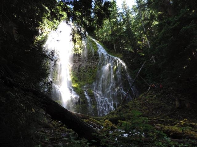 Bijna de hoogste waterval in Oregon.